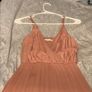 Lush Style Finds Dresses - Pink Maxi Slit Dress
